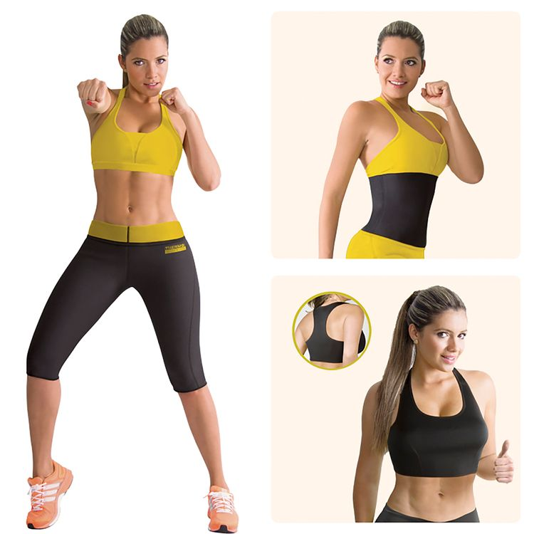 Combo-Thermo-Shapers-X-3-Dama--Pantalon-Termico-Reductor--Cinturilla-Reductora--Top