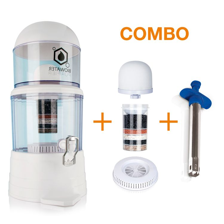 Combo--Purificador-de-Agua-Biowater-Chef-Master---Kit-de-3-repuestos---Encendedor-de-impacto