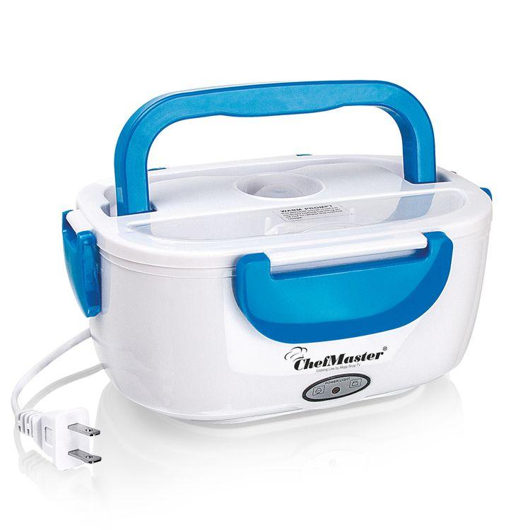 Lonchera-electrica-Porta-Comida-calentador-azul-Chef-Master