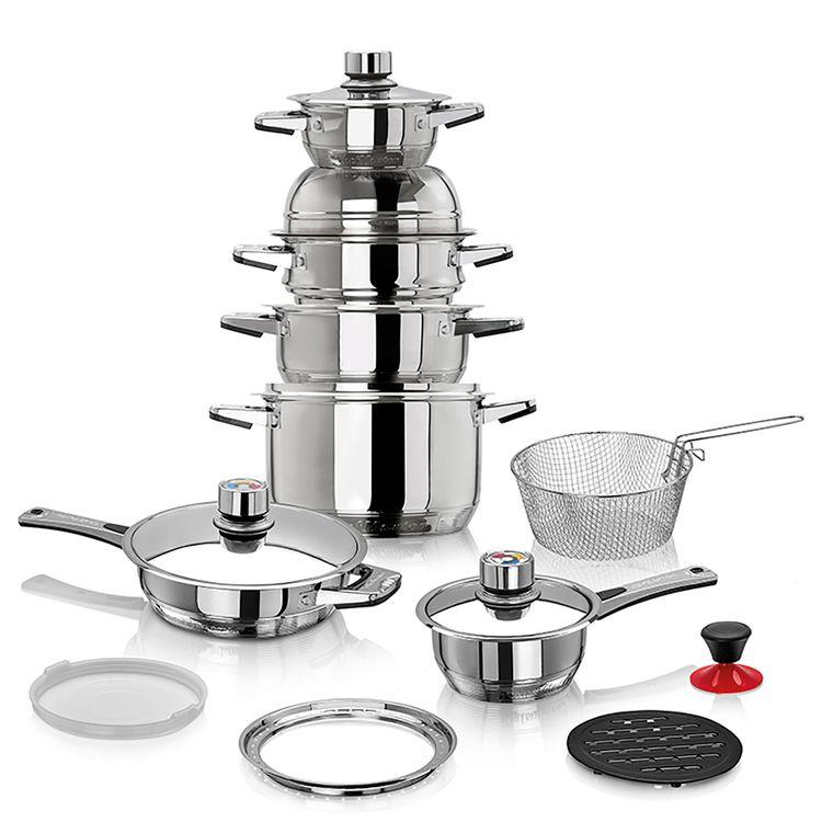 Ollas-Multinivel-19-PCS-con-11-capas-de-Acero-Chef-Master