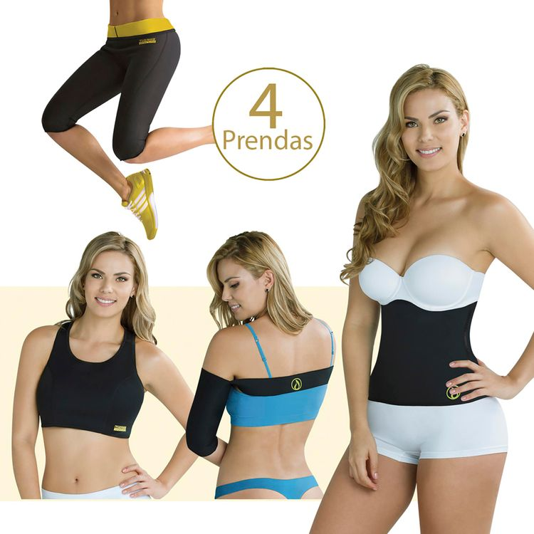 Combo-Thermo-Shapers-X4--Pantalon----Cinturilla----Top----Mangas-Reductoras