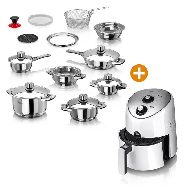 Combo-Freidora-de-aire-3-6L-Ollas-Multinivel-19-pzas-Chef-Master-3