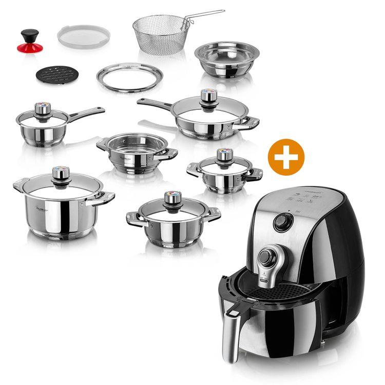 Combo-Freidora-de-aire-4-3L-Ollas-Multinivel-19-pzas-Chef-Master-3