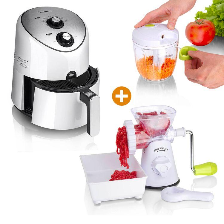 Combo-Freidora-de-aire-3-6L-Molino-Maxi-cortador-halador-Chef-Master-4