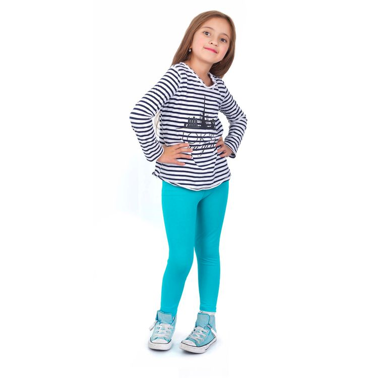 Leggins-licra-pantalon-para-Nina-en-algodon-Thin---Happy-verde-agua-2