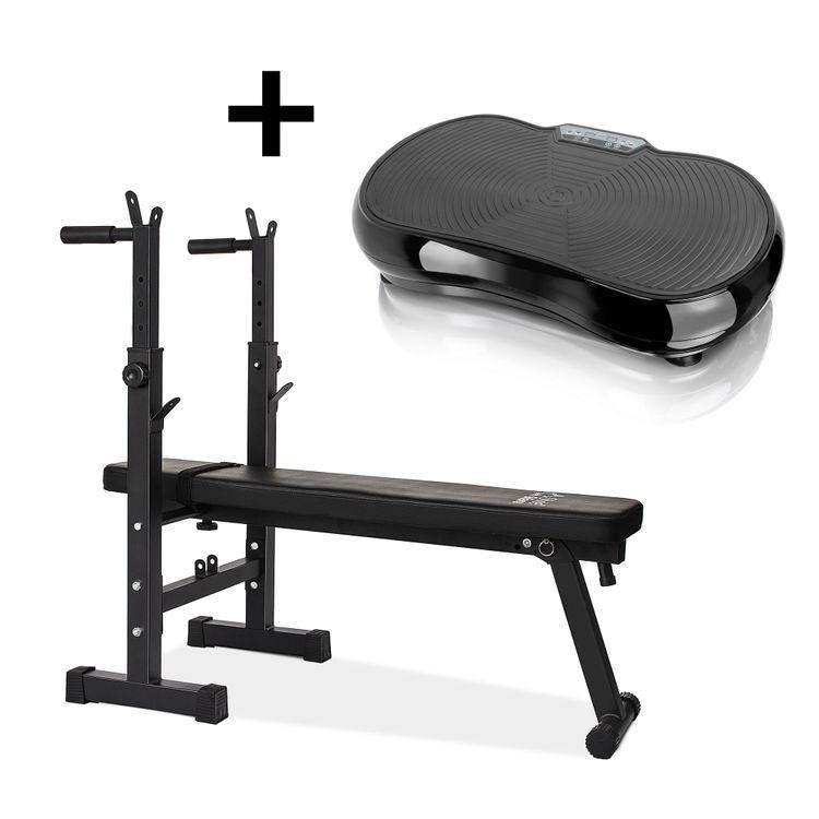 Combo-Banco-para-pesas-con-soporte---Plataforma-Vibratoria-Style-Stars1